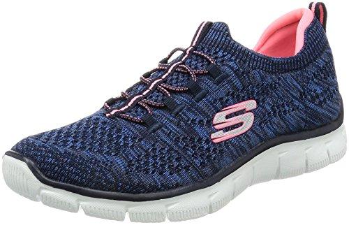 Skechers Donne Sportive Impero Pensiero Tagliente Della Moda Sneaker Blu / Rosa Caldo