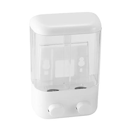 OurLeeme 1000ML principal doble dispensador de jabón transparente dispensador de jabón líquido para Cocina Baño