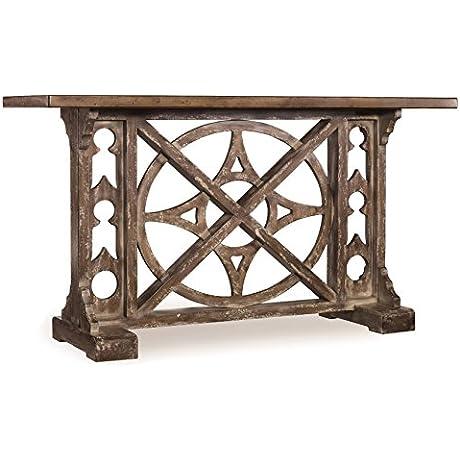 Hooker Furniture 638 85001 Melange Rafferty Console Planked Top And Stone Like Finish