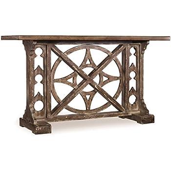 Hooker Furniture 638 85001 Melange Rafferty Console, Planked Top And  Stone Like Finish