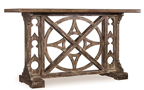 Hooker Furniture 638-85001 Melange Rafferty Console, Planked Top and Stone-Like Finish