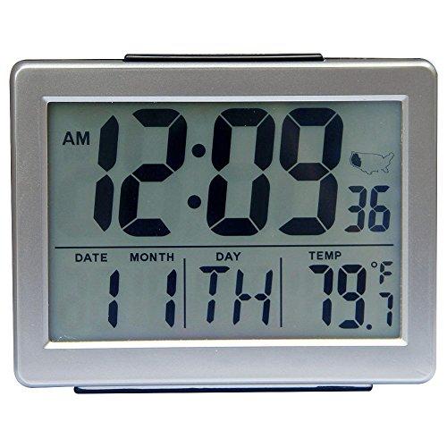 Jumbo Self-Setting Self-Adjusting with Snooze LCD & Indoor Battery Powered Alarm HM27