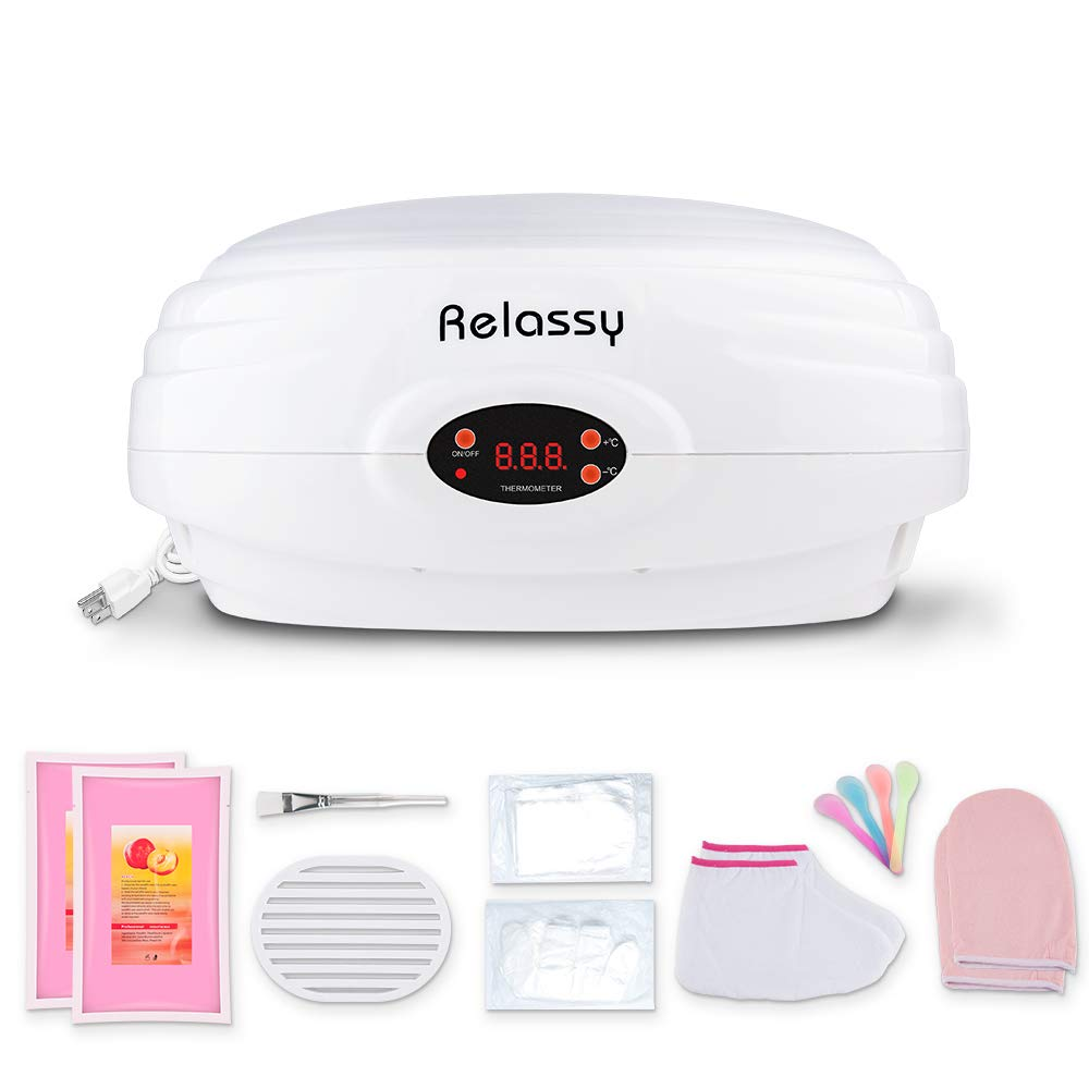 Paraffin Wax Machine, Paraffin Wax Machine for Hand and Feet, Relassy Paraffin Bath at Home, Paraffin Heat Therapy Machine, Soothing Hand and Foot, White by Relassy
