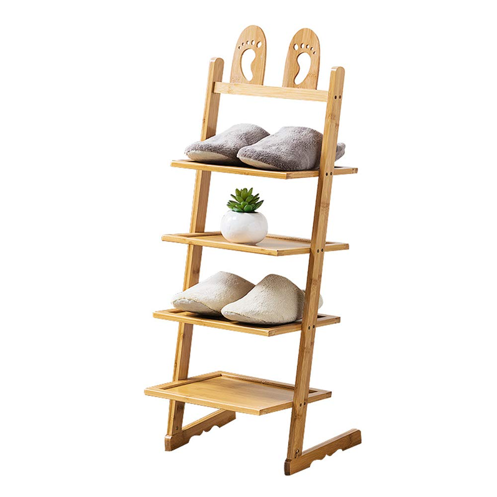 Storage rack ZHIRONG Bamboo Shoe Rack Multifunction Multilayer Creativity Bookshelf Organizer 33.53148CM / 33.53163CM / 33.53177CM / 33.53193CM