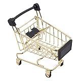Yesiidor Mini Supermarket Shopping Cart Shopping Utility Cart Mode Storage Toy Trolley Pet Bird Parrot Hamster Toy