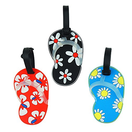 Blummy 3pcs Luggage Tags ID Tags for Travel Identifier and Suitcase Label...