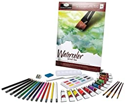 Royal & Langnickel Essentials 46 Piece Watercolor Painting Box Set