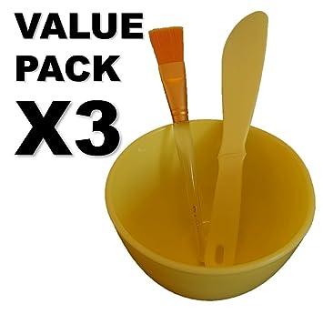 amazon com hansderma skinsoft mask mixing bowl spatula and golden
