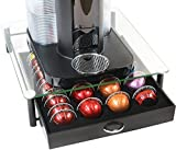 nespresso coffee capsules holder - DecoBros Crystal Tempered Glass Nespresso Vertuoline Storage Drawer Holder for Capsules