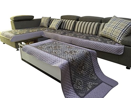Ofit High Quality Chenille Quilted Sectional Sofa Throw Pads Furniture Protector Sold By Piece Rather Than Set (Grey