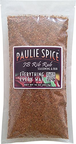 Paulie Spice : Sweet & Smoky BBQ Rib Rub and Seasoning For: Ribs, Chicken, Wings, Meat, Pork, Brisket, Beef, Salmon, Fish, Barbecue, Grilling, Grill, Hickory, Smoked, Dry, Rubs, Seasonings, Spices