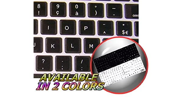 MAC FRENCH BELGIAN KEYBOARD STICKERS WHITE COLOR