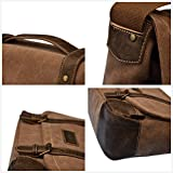 "15"" Laptop Messenger Bag for Men Leather Messenger"