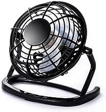 CSL - Ventilador USB | ventilador de mesa / ventilador | PC / portátil | en negro