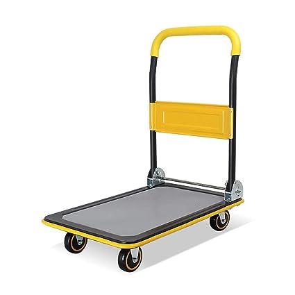 bac2722b684e Amazon.com: Zhilong Multi Purposes Platform Cart, Rubber Mute Wheel ...
