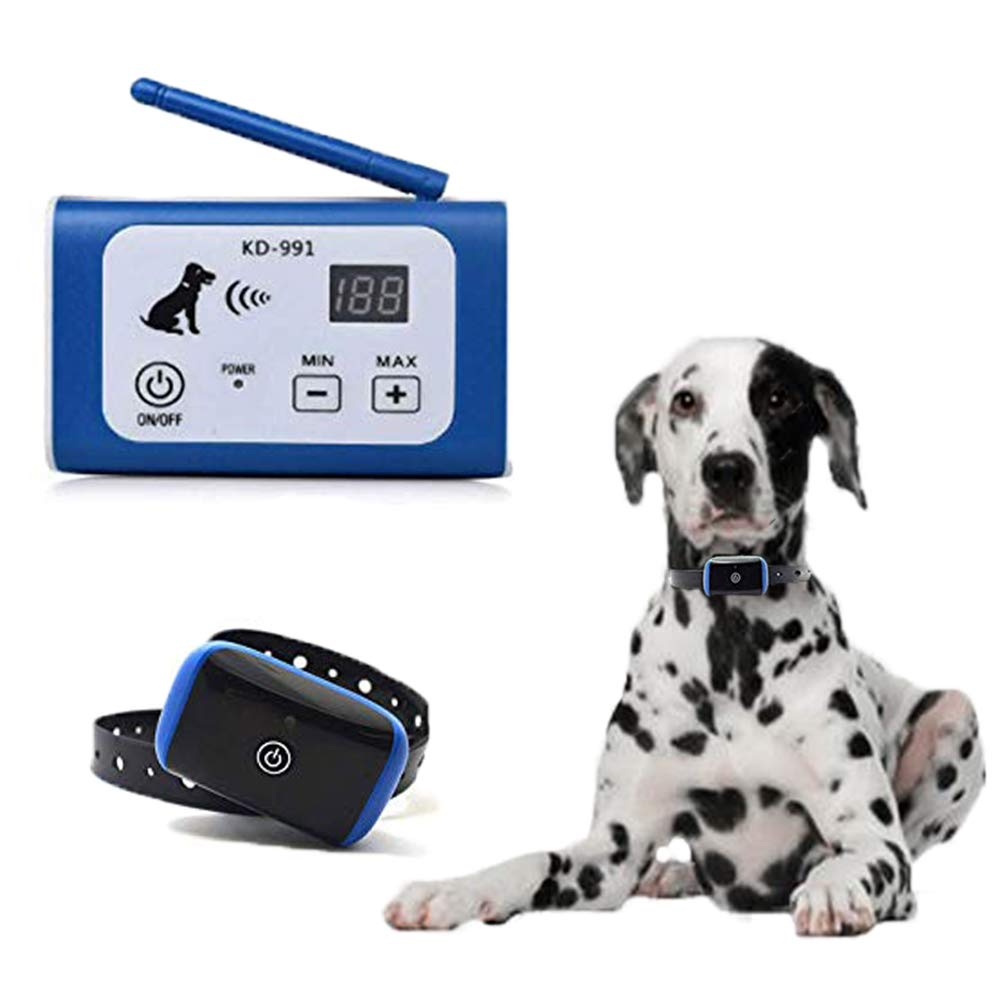 PETSO Wireless Dog Fence System for Dogs, Electric Pet Containment System for Dog and Pets with Waterproof and Rechargeable Training Collar Receiver for 1 Dogs Boundary Container (20 Flags) by PETSO
