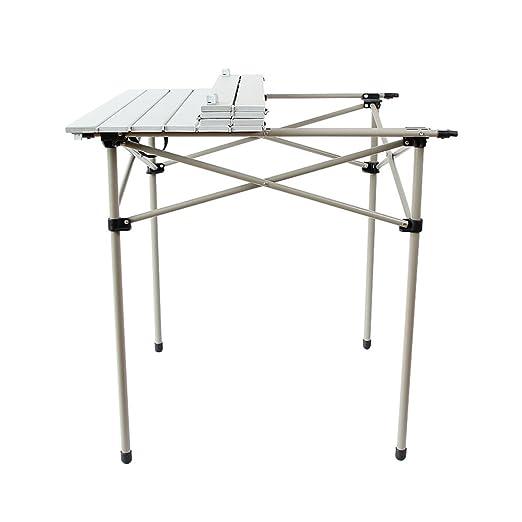 Mesa Plegable de Aluminio Blanco Mesa portátil al Aire Libre hogar ...