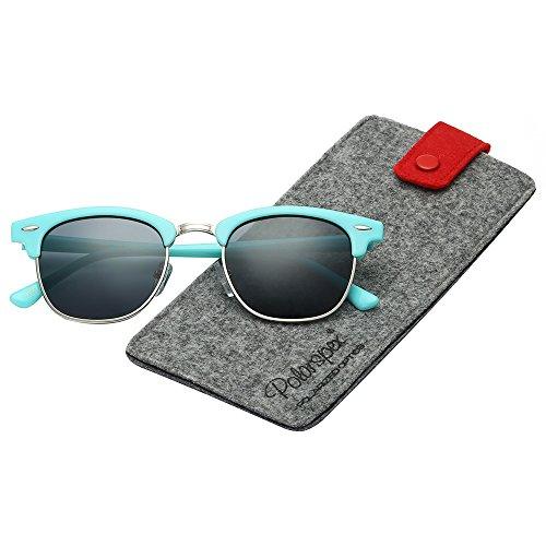 Polarspex Unisex Retro Classic Stylish Malcom Half Frame Polarized Sunglasses -