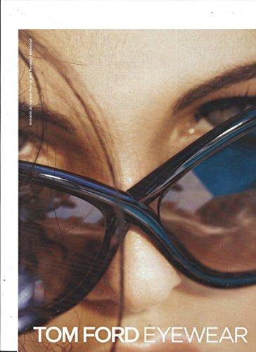 MAGAZINE ADVERTISEMENT For 2006 Tom Ford Black Frame Eyewear Close Up - Scene Eyewear