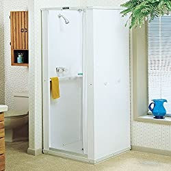 Mustee 30 Durastall 30-in x 30-in Shower Stall, White
