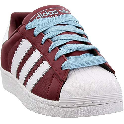 adidas Superstar Mens Shoes Collegiate Burgundy/Cloud White/Ash Grey bd7416 (10 M US)
