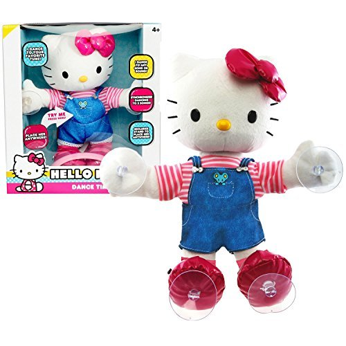 Blips Year 2014 Sanrio Hello Kitty 12 Inch Tall Electronic Plush Doll - DANCE TIME HELLO KITTY with Sound or Touch Activation Feature, Synchronized Dancing to 2 Songs Plus Stands to Place Her Anywhere by Sanrio