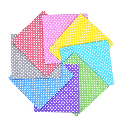 iNee Polka Dot Fat Quarters Quilting Fabric Bundles, Quilting Fabric for Sewing Crafting,18 x22 inches,(Polka Dot)