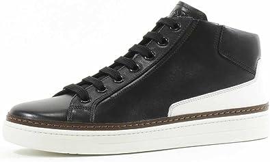 Prada Men's Leather Mid-Top Sneaker
