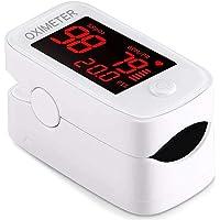 ECOSPEED LED Monitor de saturación de oxígeno en Sangre, Seguimiento del Nivel de saturación de oxígeno en Sangre, frecuencia cardíaca con Alta precisión