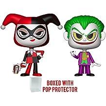 Funko Vynl: DC Comics - Harley Quinn and Joker Vinyl Figure 2-Pack (Bundled with Pop BOX PROTECTOR CASE)