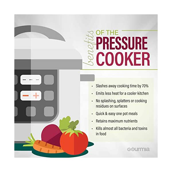 Gourmia GPC625 6 Qt Multi-Mode SmartPot Pressure Cooker | 13 Cook Modes | Removable Nonstick Pot | 24-Hour Delay Timer… 6