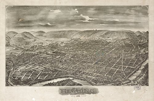 Map: 1898 The city of Reading, Pennsylvania 1898|Pennsylvania|Reading|Reading (Cupones De Party City)