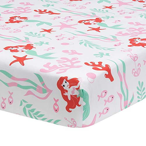 Lambs & Ivy Ariel's Grotto Fitted Crib Sheet, Multicolor