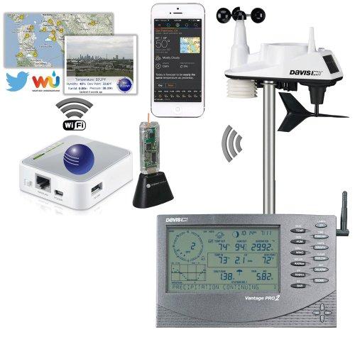 Davis Instruments 6251 Airbridge Wifi Vantagevue Wireless Weather Station With Airbridge