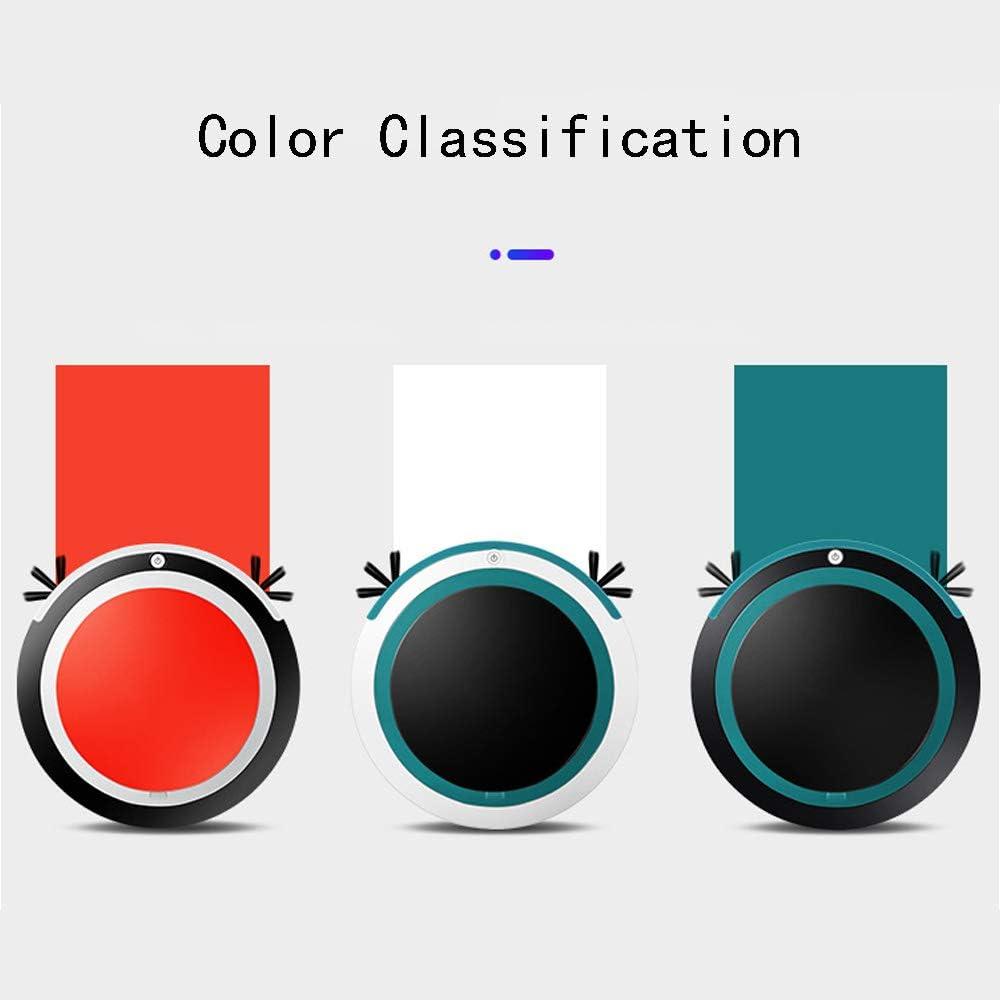 HAJZF Aspirateur Robotisé De Balayage/Balayage/Aspirateur Intégré, Nettoyage Automatique Et Anti-Remontage De La Brosse Double Face, Design Mince De 2,55 Pouces Green