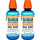 TheraBreath Dentist Formulated Fresh Breath Oral Rinse - Icy Mint Flavor, 16 Ounce (Pack of 2)