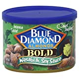 Blue Diamond, Almonds, Bold Wasabi & Soy, 6 ounce Can (Pack of 2)