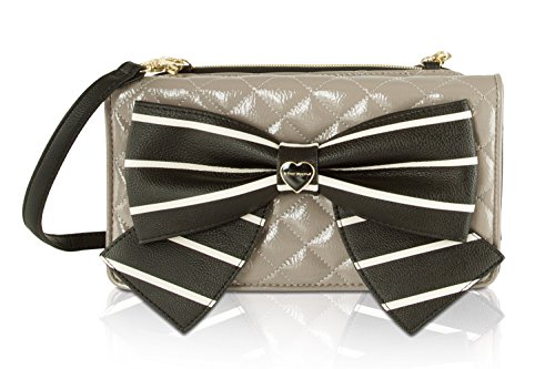 Betsey Johnson Wallet On A String Crossbody - Taupe by Betsey Johnson