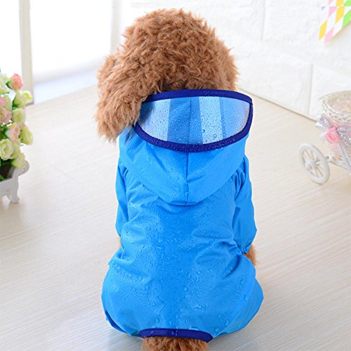 - Glumes Fashion Pet Dog Raincoat for Small Dogs | Dog Rain Jacket with Hood | Dog Rain Poncho | 100% Polyester | Water Proof | Perfect Rain Gear for Your Pet