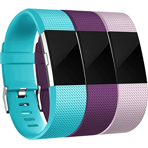 Maledan For Fitbit Charge 2 Bands(3 Pack), Replacement Accessory