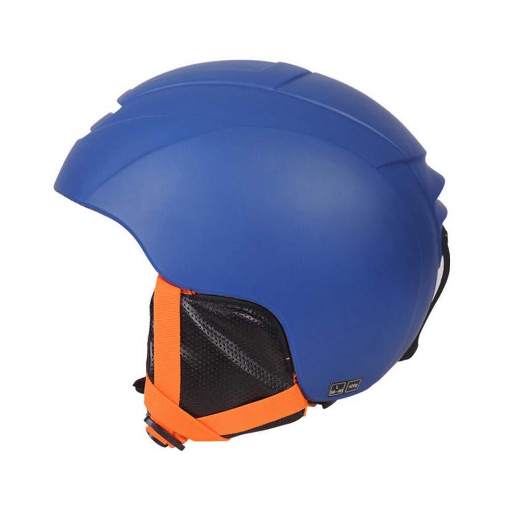 スノーボード&スキーヘルメット、スキー用保護安全キャップスケートボードスケートヘルメットシングルボード大人用、子供用、青年用A ヘルメット Medium 青 B07QFK3SHK