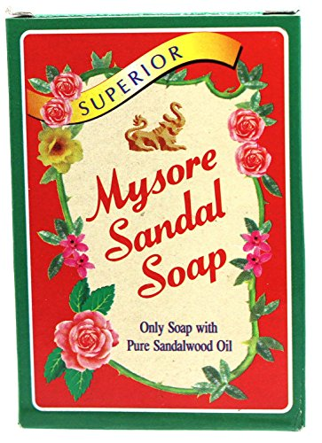 Mysore Sandal Soap 2.65 oz Box,  (Pack of (Chandrika Sandalwood Soap)