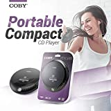 Coby Portable Compact Anti-Skip CD Player - Lightweight & Shockproof...