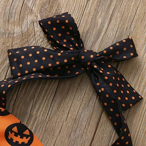 Filles Manches Halloween Maille Mois 6 Halloween 24 Orange Vêtements Imprimé Déguisement Citrouille Enfants Jumpsuit Lace Romper Costumes Sans Backless Adeshop qytBU1pcP