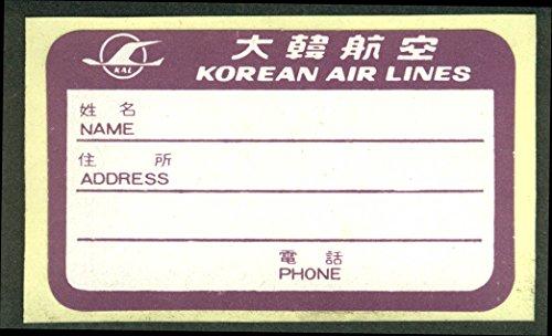 korean-air-lines-crack-peel-airline-baggage-sticker-unused