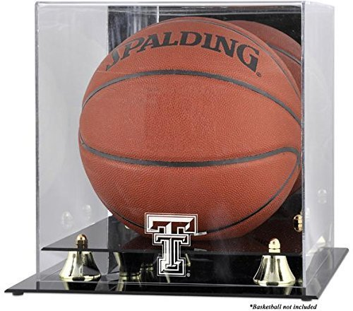 Texas Tech rot Raiders Golden Classic Logo Basketball Display Case mit Spiegel B durch montiert Erinnerungen