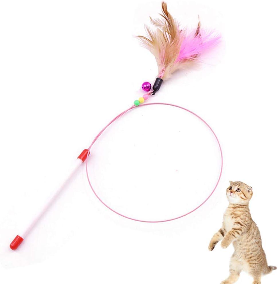 Squishtoy Juguete con Plumas de Gato Entrenamiento de Mascotas Burlas Juguete Interactivo Gatito Cazador para Ejercicio Jugar Diversión: Amazon.es: Productos para mascotas