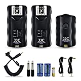 Wireless Flash Trigger JJC Remote Control Flash Trigger Kit for Canon Flash 600EX 580EX on Canon T6 T5 T3 T7i T6s T6i T5i T4i T3i T2i T1i SL2 SL1 80D 77D 70D 60Da 60D M6,etc with 2 Receivers