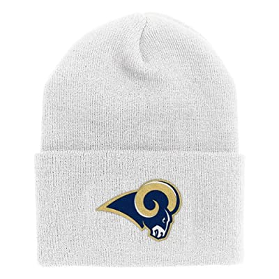 NFL End Zone Cuffed Knit Hat - K010Z, St. Louis Rams, One Size Fits All