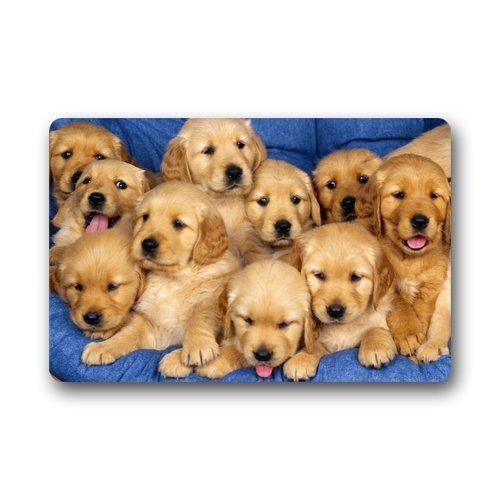 fei tong Custom Home Fashions Cute Dog Doormat Manchine-Wash